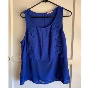 Skies are Blue Royal Blue sleeveless blouse
